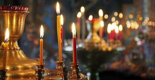 свечи на обрядах